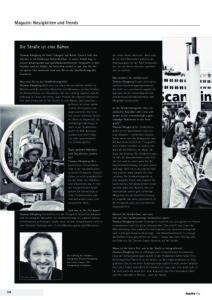Thomas Klingberg: Die Straße ist eine Bühne. Interview in der fotoPRO