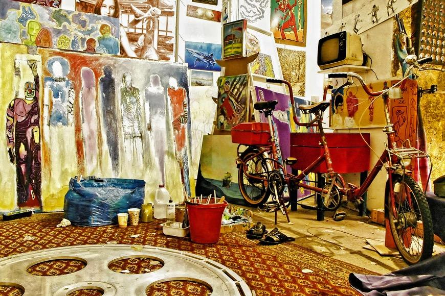 Atelier im ehemaligen Tacheles in Berlin