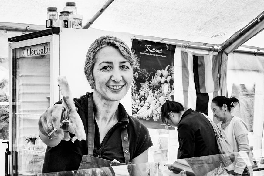 Marktfrau in Gelsenkirchen