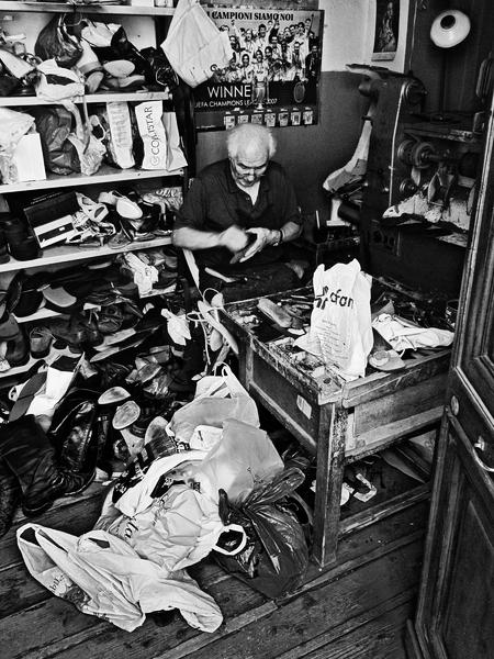 Shoemaker in Foligno, Italy
