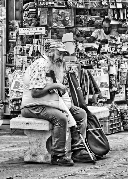Straßenmusiker aus Perugia