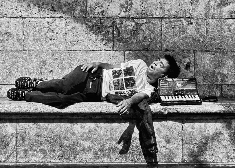 Straßenmusiker in Perugia