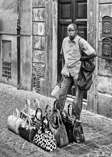 Straßenportrait in Rom