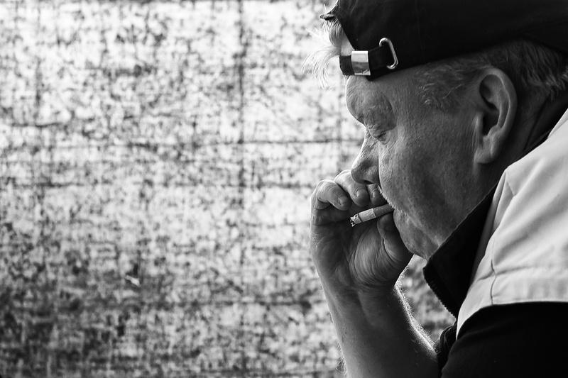 Portrait of a worker from DüsseldorfFrom the photo documentation FORSTCaptured in summer 2015Genre: Social Documentary Photography, Portrait Photographer: Thomas Klingberg