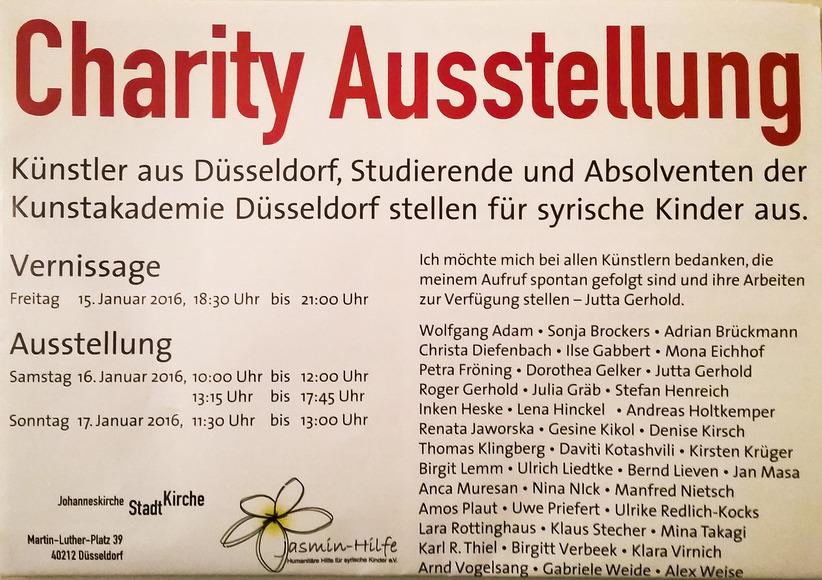 Düsseldorfer Künstler stellen für syrische Kinder aus