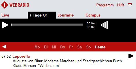 """Radiopodcast """"Poesie und Alltag"""" auf Österreich1"""