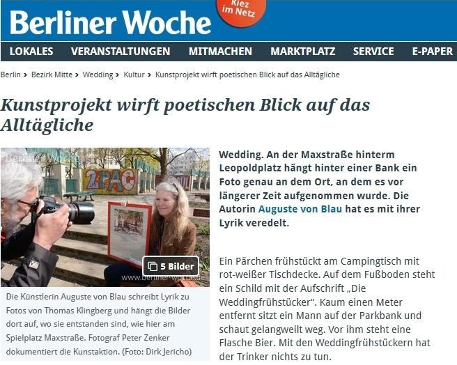 Berliner Woche: Poetischer Blick auf das Alltägliche