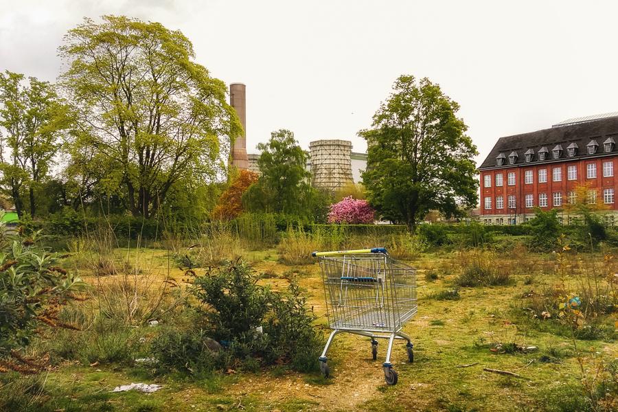 Endzeitstimmugsbild: Smartphone Aufnahme in Düsseldorf Flingern