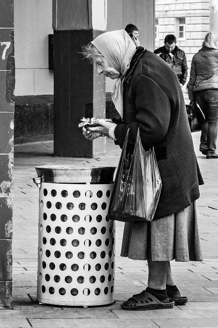 Armut in Moskau