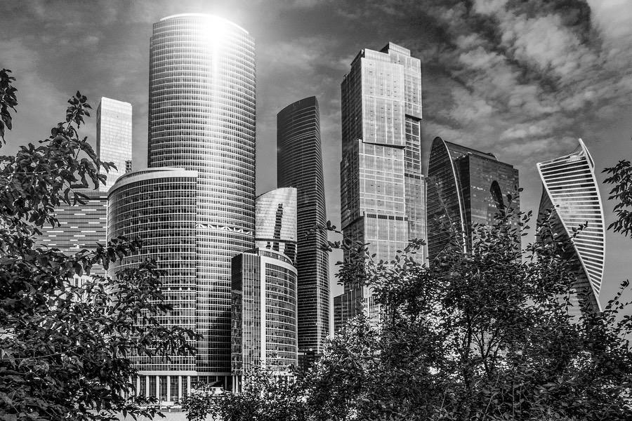 Moskau City Baugebiet