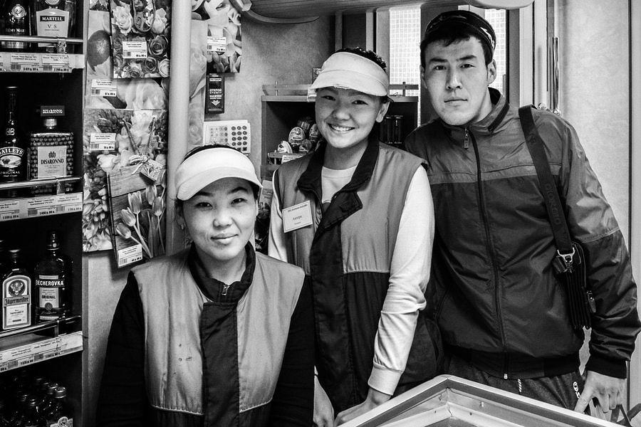 Ladenbesitzer aus Kirgisien in Moskau