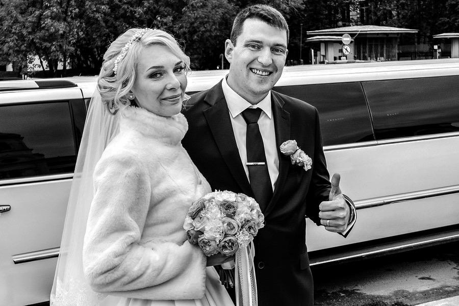Hochzeitspaar in Moskau