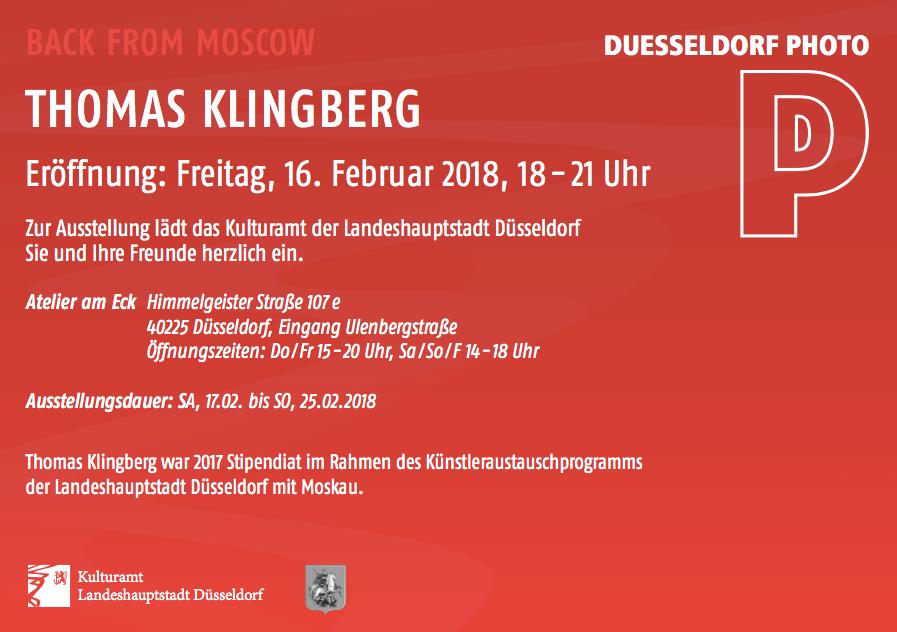 Thomas Klingberg Ausstellung MOSCOW STUDY