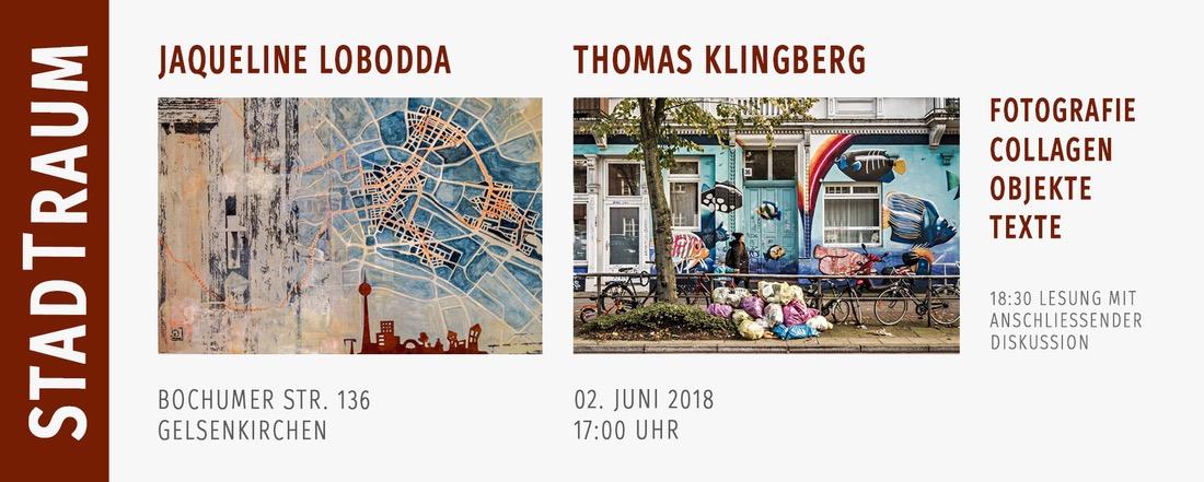 Ausstellung STADTRAUM in Gelsenkirchen. Jaqueline Lobodda und Thomas Klingberg