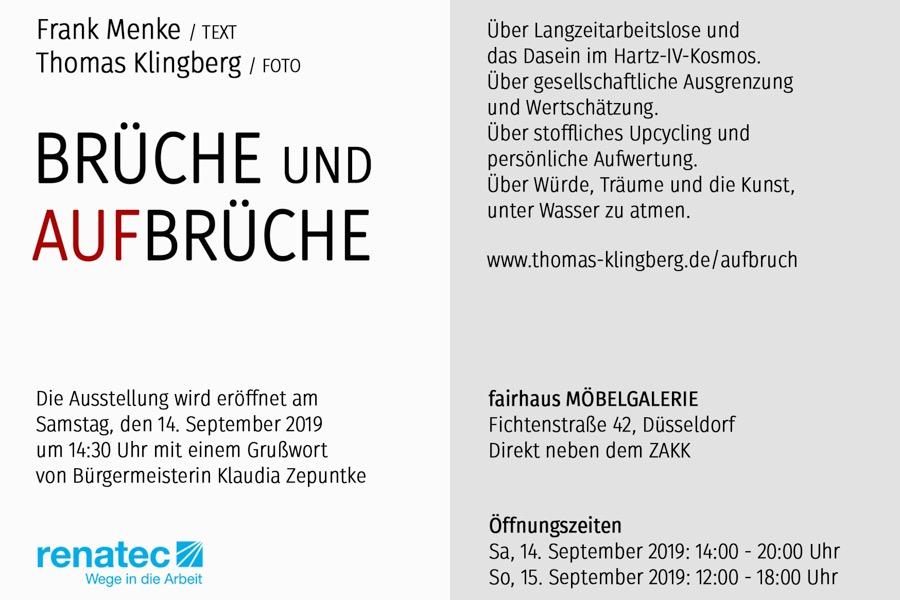 Kunstpunkte 2019: Ausstellung BRÜCHE UND AUFBRÜCHE - Thomas Klingberg