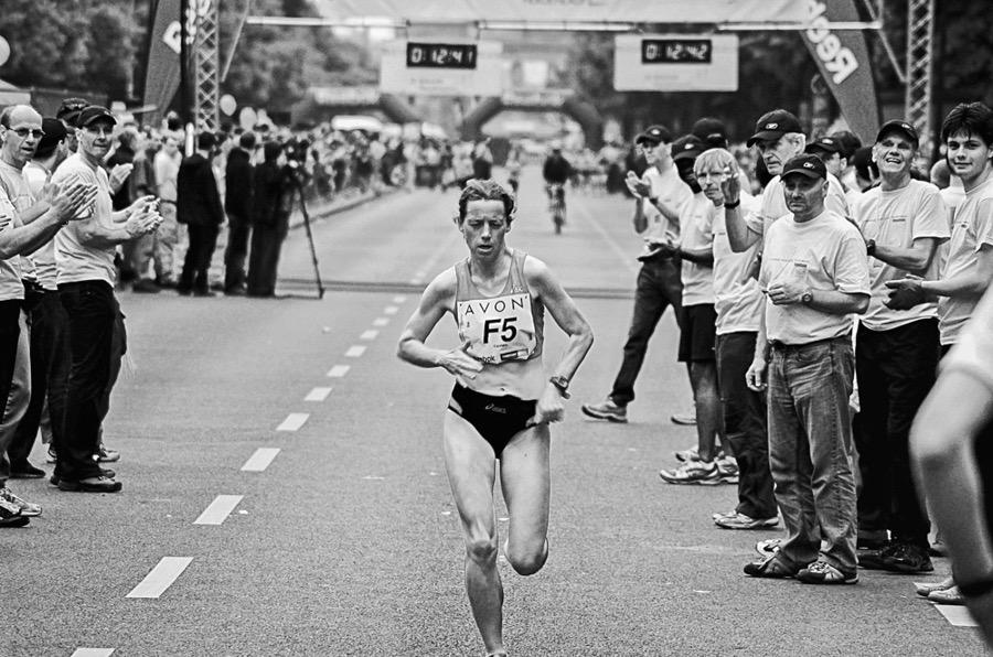 Marathon runner Carmen Siewert at the Avon Women's Run in Berlin 2008