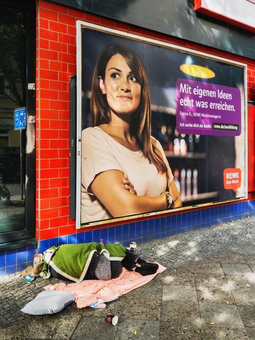 Sozialdokumentarische Fotografie Obdachlosigkeit Berlin