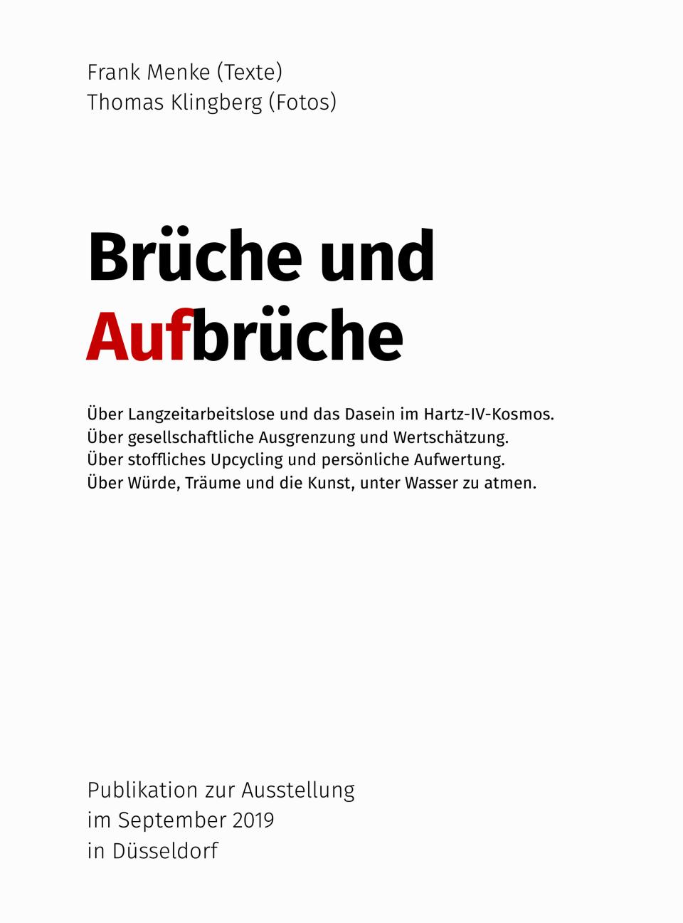 Publikation Ausstellung Brüche Aufbrüche Thomas Klingberg Frank Menke Kopie